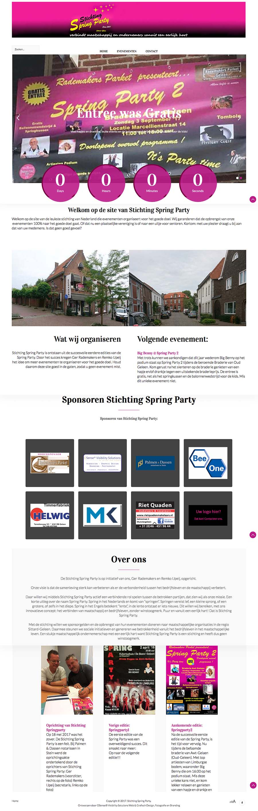 Website Stichting Spring Party, Sittard Gellen