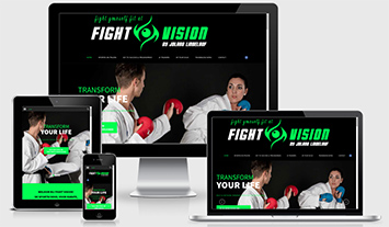 Virtual Tour, Responsive Website - Fight Vision Sittard